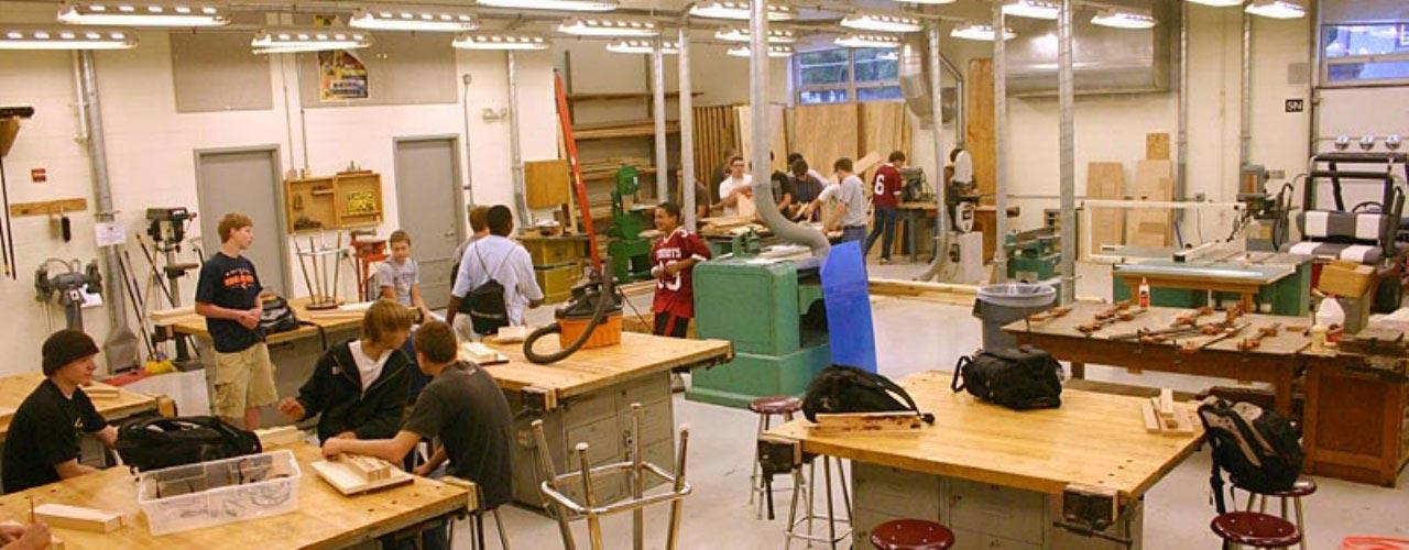 High School Wood Working Facilities